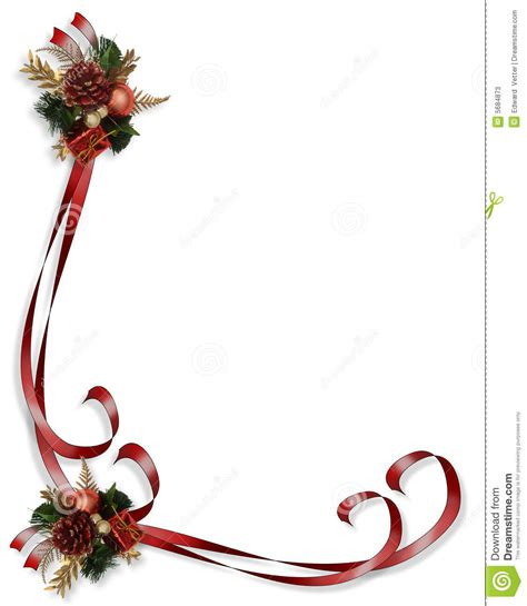 clipart natalizi illustrazione bordo di natale illustrazione di stock