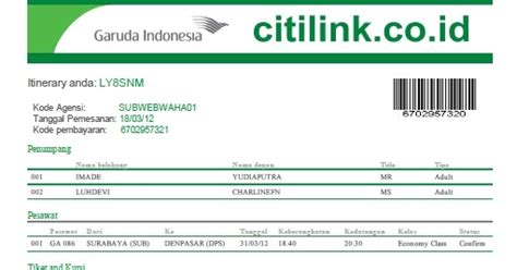 citilink garuda web check in pelangi nusantara tour travel ticketing domestik