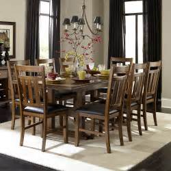 Dining Room Sets 9 Piece by Homelegance Kirtland 9 Piece 72x40 Trestle Dining Room Set