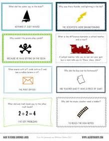 And free printable lunch box notes and jokes from all for the boys