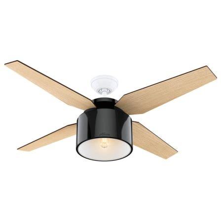 hunter fan coupon code hunter 59257 gloss black 52 quot ceiling fan 4 reversible