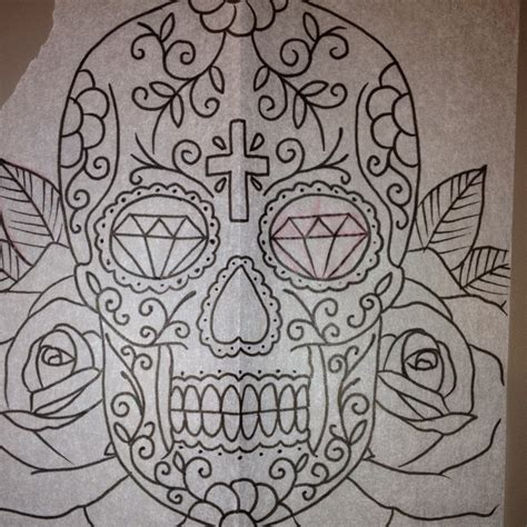 skull tattoo with diamond eyes diamond eyes cross skull tattoo artwork pinterest