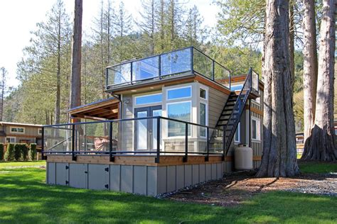tiny house with deck west coast park models tiny luxurious investments tiny