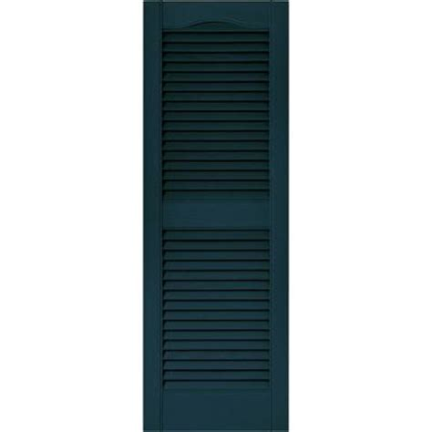 builders edge 15 in x 43 in louvered vinyl exterior