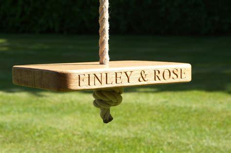 tree swings uk engraved garden tree swings make me something special