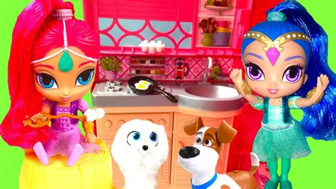 Shimmer Shine And Cook the secret of pets shimmer shine go cing and
