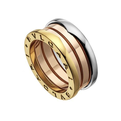 Bulgari Bvlgari Gold bvlgari b zero1 18ct white pink yellow gold three band ring
