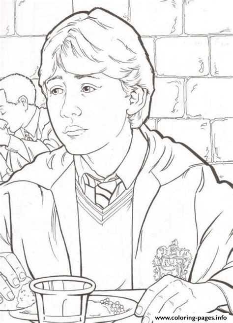 harry potter coloring pages ron harry potters ron coloring pages printable