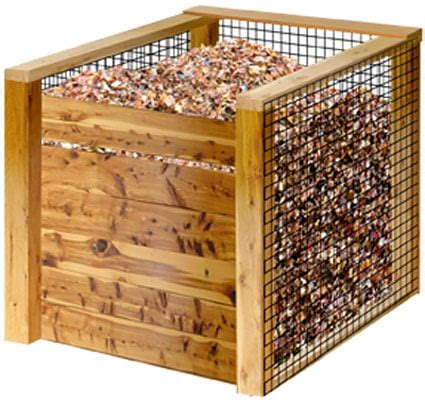 wooden compost bin  earth engine planet natural