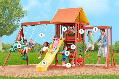 cedarbrook swing set products big backyard play set
