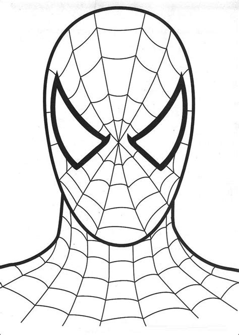 free spiderman coloring page free cartoon spiderman coloring pages