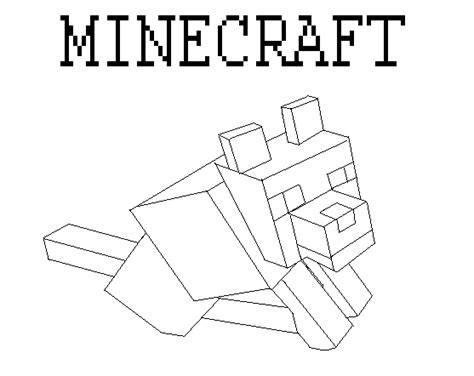 coloring pages minecraft wolf how to draw minecraft wolf