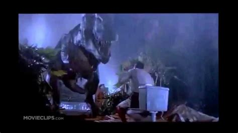 t rex bathroom jurassic park the original t rex scene guy gets eaten in