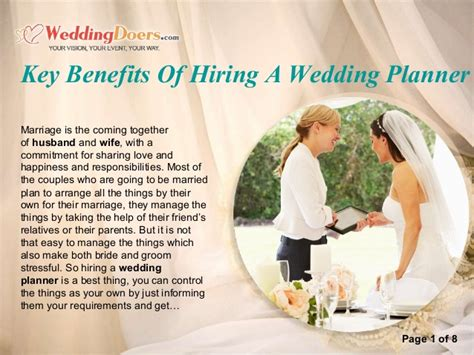 Wedding Planner Hiring by Key Benefits Of Hiring A Wedding Planner