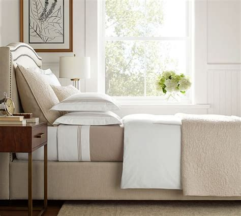 megan bed with curved fabric headboard up to 60 off rrp next day select day delivery tamsen curved upholstered bed headboard pottery barn