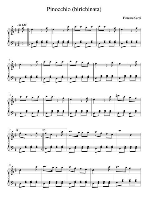 SPARTITO MUSICAL PINOCCHIO SCARICA