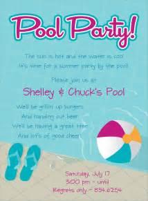 pool free invitations swimming pool birthday