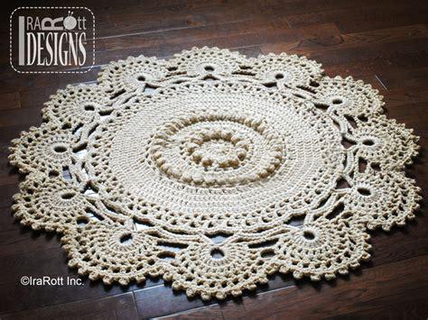 rug crochet pattern retro owl rug or doily rug pdf crochet pattern irarott inc