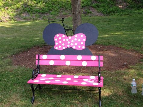 mickey mouse work bench minnie mouse bench too stinking cute ok paw paw get