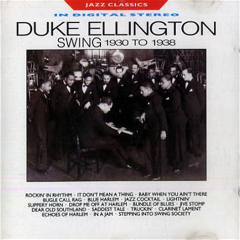 duke ellington swing music swing 1930 to 1938 duke ellington paris jazz corner