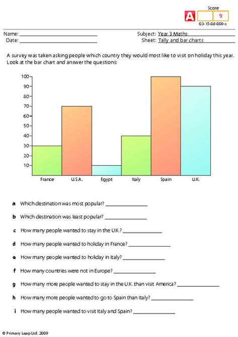 Data And Statistics Worksheets by Data Handling Worksheets For Year 3 Search Results Education Tabtor Maths Ccss Curriculum