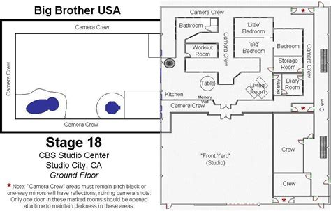 floor plan of big brother house floor plan for big brother house