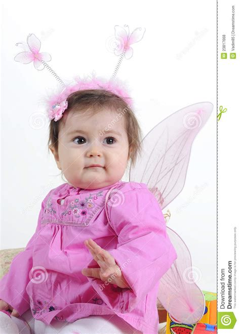 small beautiful pics the small beautiful girl in pink clothes royalty free