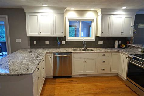 beaded kitchen cabinets frosty white beaded inset kitchen in milford traditional
