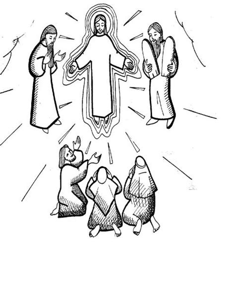 free coloring pages of transfiguration of jesus