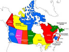 canada on map canadainfo geography maps maps political