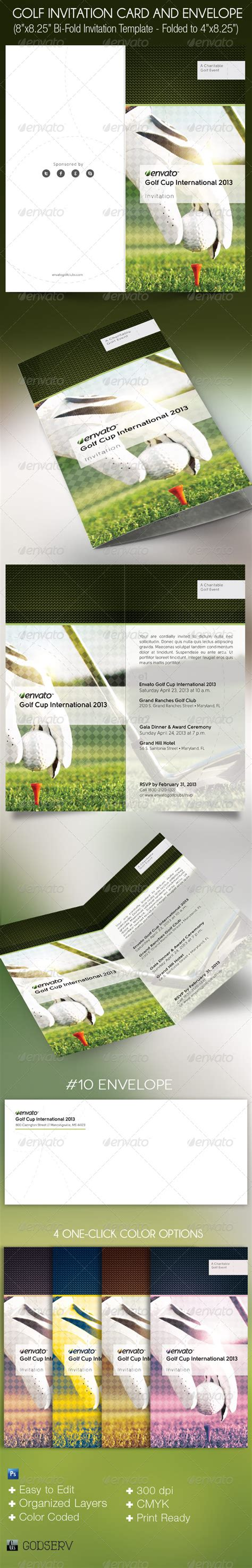 Golf Membership Card Template by Golf Invitation Card And Envelope Template By Godserv On