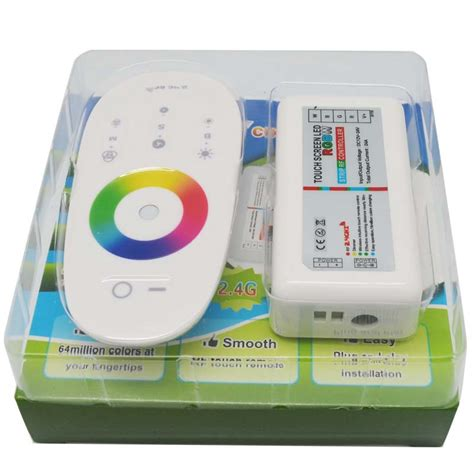 Led Controller Dc 5 24v Max 6a Utk Led Single Color dc 12v 24v rgbw or rgb led controller 2 4g rf touch screen remote 6a per channel for smd