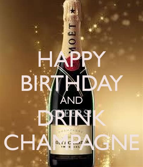 birthday drink happy birthday and drink champagne poster tanya keep