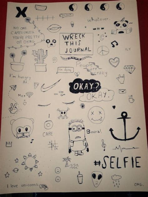 doodle draw journal kristy conlin and black drawings grunge journal simple this white