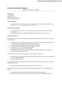 sle insurance underwriter resume underwriting assistant resume http www resumecareer
