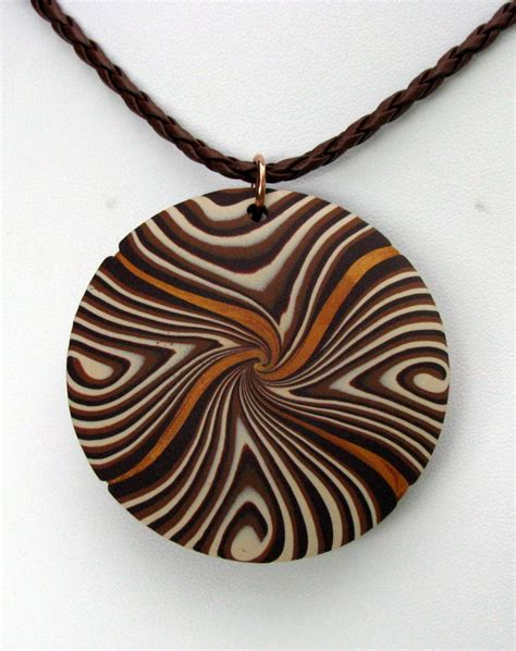 Brown Clay brown clay pendant by purpletigercreations on deviantart