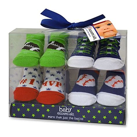Baby Set Of 4 Socks baby essentials boy s sports bootie socks set of 4