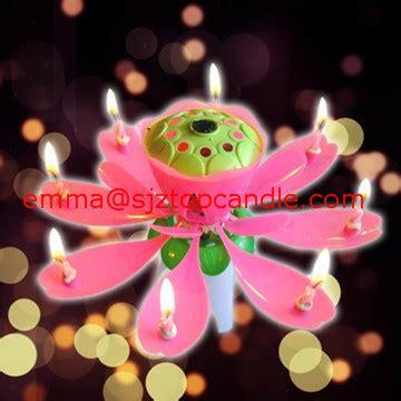 Lilin Lotus Musik Lilin Bunga asli menakjubkan bunga teratai musik lilin ulang tahun