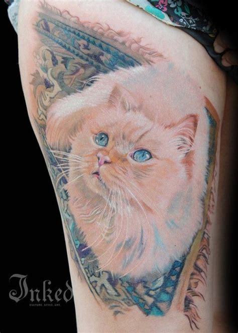 tattoo cat portrait 31 best tattoos images on pinterest cat tat kitty