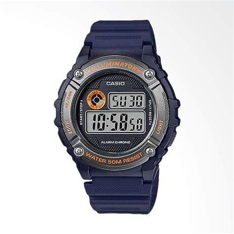 Jam Tangan Casio Pria W 216h 1c jual casio standard jam tangan pria navy w 216h 2bvdf