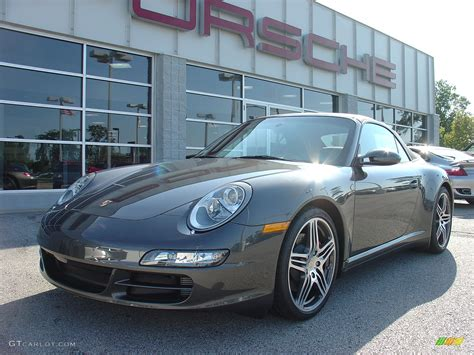 porsche slate grey metallic 2008 slate grey metallic porsche 911 carrera 4s cabriolet