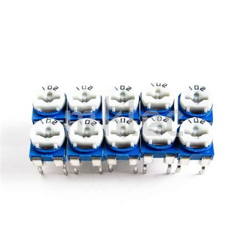 Potensiometer 3296w 102 1k Ohm Trimpot Trimmer Variable Resistor 1k ohms 102 trimmer potentiometer