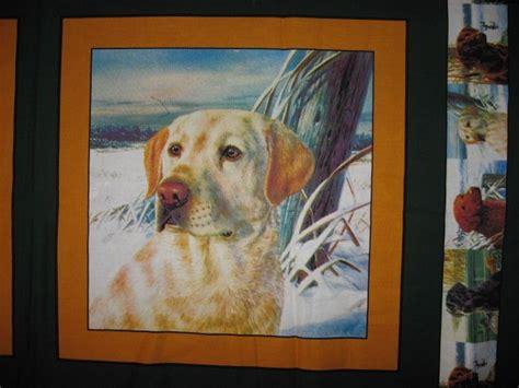 golden retriever fleece fabric golden labrador retriever set of two fabric pillow panels to sew