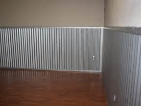 corrugated tin wainscoting corrugated metal roofing as wainscoting in a playroom