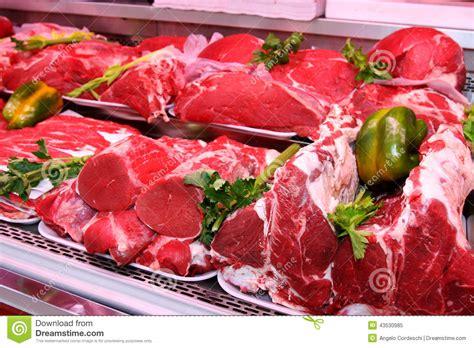 Shelf Of Pork department stock photo image 43530985