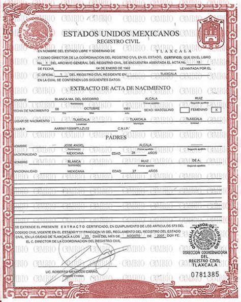 Birth Certificate   Acta America