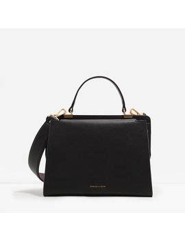 Metallic Handle Handbag Handbag Charles Keith shoptagr structured top handle bag by charles keith