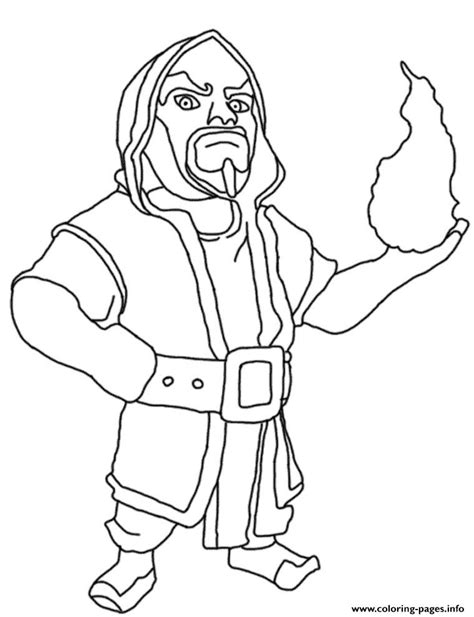 wizard clash of clans coloring pages printable