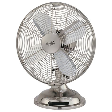 brushed nickel table fan brushed nickel oscillating table fan minka aire table fans