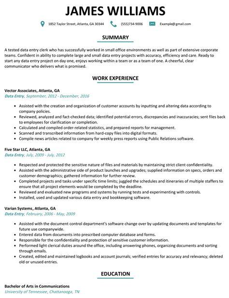 sample resume for data entry operator data entry operator cover